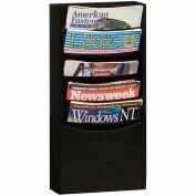 5 Pocket Vertical Literature Rack - Black