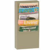 5 Pocket Vertical Literature Rack - Putty
