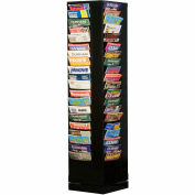 80 Pocket Rotary Literature Rack - Black