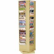 80 Pocket Rotary Literature Rack - Tan