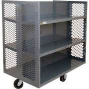 Durham Double-Sided Clearview Stock Truck 4EX-3048-2SC-6PH-95 8x30 - 4 Adjustable & 2 Fixed Shelves