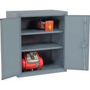 """Global Industrial™ 12 Gauge Heavy Duty 36"""" W x 24"""" D x 42"""" H Cabinet, Gray"""