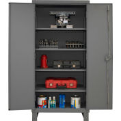 "Global™ 12 Gauge Heavy Duty 36"" W x 24"" D x 78"" H Cabinet, Gray"