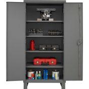 """Global Industrial™ 12 Gauge, Gray Heavy Duty Cabinet, 36"""" W x 24"""" D x 78"""" H"""