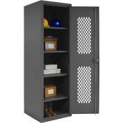 """Durham Welded Visible Storage Locker HDCL-242478-4S-95 - 24""""W x 24-1/8""""D x 78""""H"""