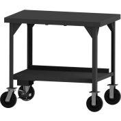 """Durham Mobile Heavy Duty Workbench - Shelf, - Écluse de plancher - 36""""W x 30""""D x 43-11/16""""H"""