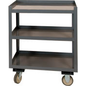 """Durham Mobile Shop Desk PSD-2430-3-95 with 3 Shelves 30""""W x 24""""D x 36""""H - Gray"""
