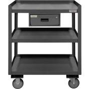 """Durham Mobile Shop Desk PSD-2430-3-D-95 avec tiroir 3 étagères 30""""W x 24""""D x 36""""H - Gris"""