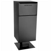 dVault Deposit Vault Mailbox and Parcel Drop with Pedestal DVCS0030 - Rear Access - Black
