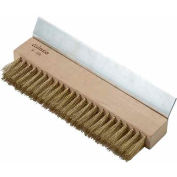 Winco BR-10 Oven Bristle Brush W/ Metal Scraper, Brass Wire - Pkg Qty 12