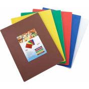 "Winco CBST-1824 Cutting Board Set, 18""L, 24""W, 1/2""H, Assorted Colors"