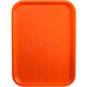 "Winco FFT-1014O Fast Food Tray, Orange, 10""x 14"" - Pkg Qty 12"