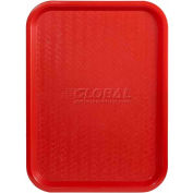 "Winco FFT-1014R - Fast Food Tray, Red, 10"" x 14"" - Pkg Qty 12"