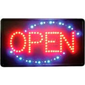"Winco LED-6 LED ""OPEN"" Sign w/Triple Flashing Pattern"