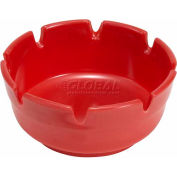 "Winco MAS-4R Round Ashtray, 4""D, Red, Plastic - Pkg Qty 3"