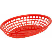 Winco PFB-10R Oval Fast Food Baskets - Pkg Qty 3
