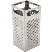 Winco SQG-4 Box Grater, Stainless Steel Handle, Stainless Steel - Pkg Qty 12