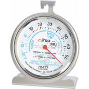 Winco TMT-RF3 Dial Refrigerator/Freezer Thermometer - Pkg Qty 12