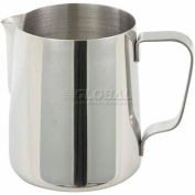 "Winco WP-33 Pitcher, 33 oz, 4-3/4"", Stainless Steel - Pkg Qty 10"