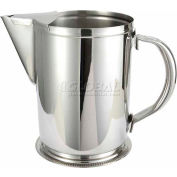 """Winco WPG-64 Water Pitcher W/ Guard, 64 oz, Stainless Steel, 7""""H - Pkg Qty 12"""