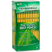 Dixon® Ticonderoga Woodcase HB #2 Pencil With Latex-Free Eraser, 96/Pack