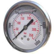 """Dynamic 2 1/2 """" Fluid Glycerine Filled Pressure Gage Center Back 1500 PSI"""