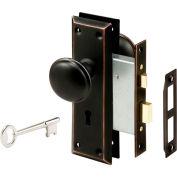 Prime-Line® classique de Style victorien Bronze Keyed mortaise entrée Lock Set, E 2495