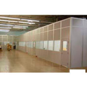 Bureau de l'Inplant modulaire ebtech, son en acier et plâtre, 12 'W x 10 'd, 2 paroi, classe A cote de feu, blanc