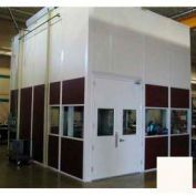 Ebtech Modular Inplant Office, Vinyl Clad Hardboard, 10'W X 12'D, 2 Wall, Class C Fire Rating, Tan