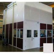 Ebtech Modular Inplant Office, Vinyl Clad Hardboard, 12'W X 12'D, 2 Wall, Class C Fire Rating, Gray