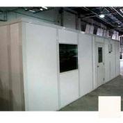 Ebtech Modular Inplant Office, Vinyl Clad Gypsum Sound, 8'x10', 2 Wall, Class A Fire Rating, Tan