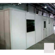 Ebtech Modular Inplant Office, Vinyl Clad Gypsum Sound, 10'x12', 3 Wall, Class A Fire Rating, Gray