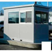Ebtech Pre-Assembled Security Builidng W/Swing Door, 4'W X 4'D, Intregral Roof, 4 Wall, White