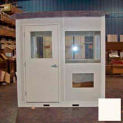 "Ebtech Pre-Assembled Security Builidng W/Sliding Door, 5'W X 3'D, 24"" Overhang Roof, 4 Wall, Tan"