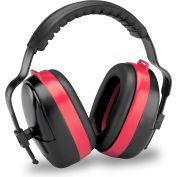 Elvex® MaxiMuff™ Earmuff HB-35, Dielectric, Multi-Position, NRR 28, Black/Red