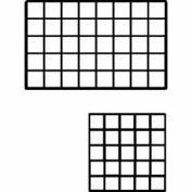 """10""""L X 10""""W Epoxy Coated Grid Cubbies - Black - Pkg Qty 48"""