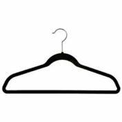 """Costume cintre de 17"""" L avec barre - floqué velours noir, qté par paquet : 100"""