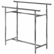 Adjustable Double Rail Clothes Rack (K40)- Chrome