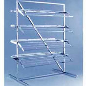 """T"" Style Adjustable Shoe Rack - Chrome"