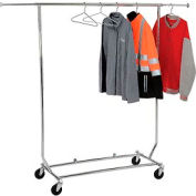 Vêtements Portable pliable Rack RCS/1 - tube - rond Chrome de vendeur