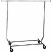 Salesman's Portable Garment Rack - Collapsible RCS/2 - Heavy Duty Round Tubing - Chrome