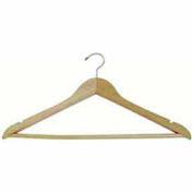 """Wishbone 17"""" L W / Satin Chrome crochet et barre en bois - teck mat, qté par paquet : 100"""