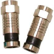 Eclipse Tools 705-001-BK F Connector RG6/U, Black, 100/Pk