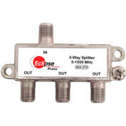 Eclipse Tools 902-370 3 Way CATV Splitter, 5-1000 MHz Bandwidth, 1 Input, 3 Outputs