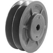 "Double-Groove Variable Pitch Sheave, 1-3/8"" Bore, 6.5"" O. D., 2VP65X1-3/8"