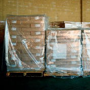"""LDPE Pallet Covers, 51""""W x 49""""D x 85""""H, 2 Mil, Clear, 50/Pack"""