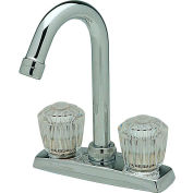 Elkay LKA2475LF, Everyday Bar/Prep Faucet, Chrome, Double Clear Crystalac Handle