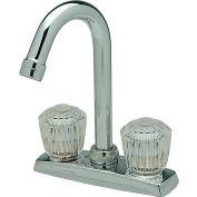 ELKAY LKA2475LF, Everyday Bar/Prep robinet, chromé, Double poignée de Crystalac clair
