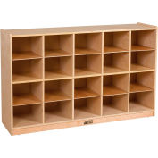 "ECR4Kids® 20 Tray Birch Storage Cabinet, 48""W x 13""D x 30""H"