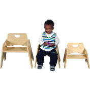 "Ecr4kids® 8"" Wooden Toddler Chair, Priced Ea, Sold 2/PK - Pkg Qty 2"